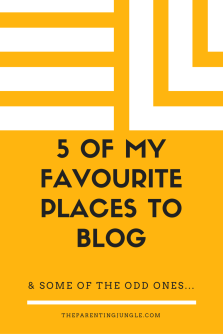 5 OF MY FAVORIATE PLACES TO BLOG. (1)