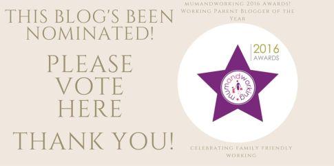 we've been nominated blog award